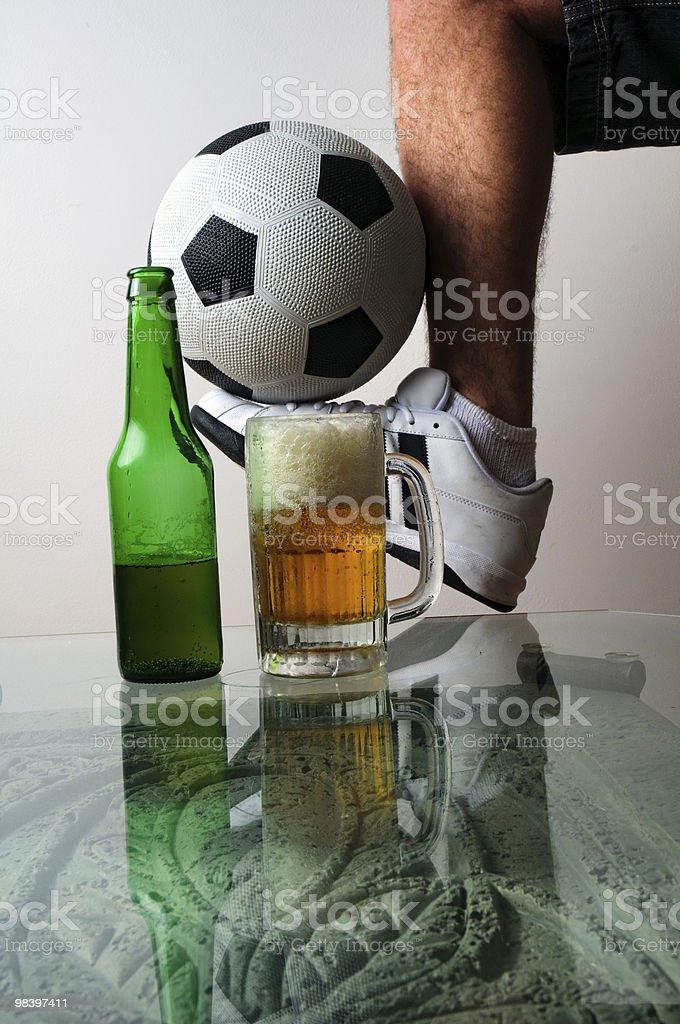 축구 및 맥주 royalty-free 스톡 사진
