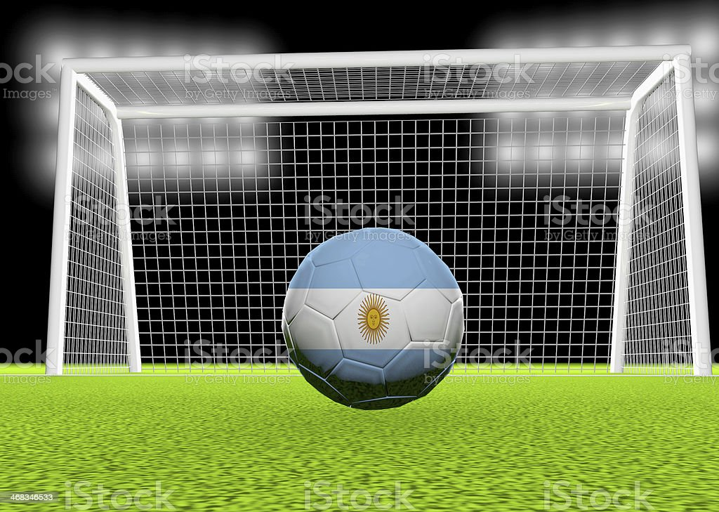 Soccer Argentina royalty-free stock photo