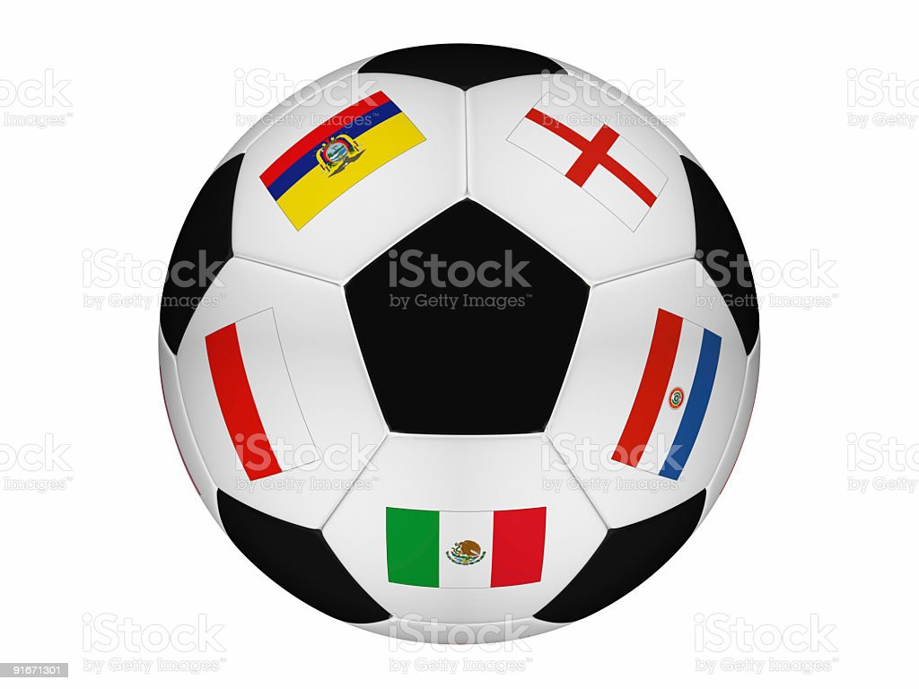 Soccer around of the world royalty-free stock photo