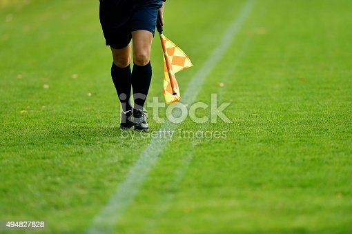 istock Soccer assistant referee 494827828