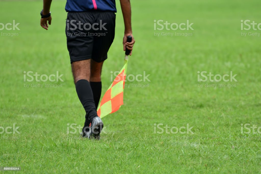 Soccer assistant referee stock photo