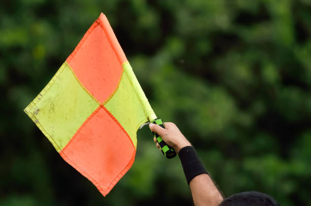 soccer assistant referee - judge sports official stock photos and pictures