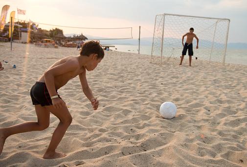 Soccer at the beach