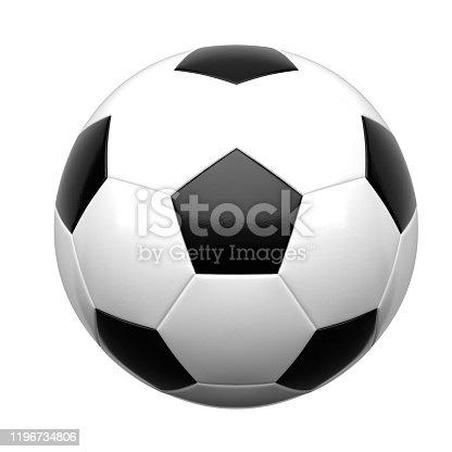 soccer, ball, 3d, white background