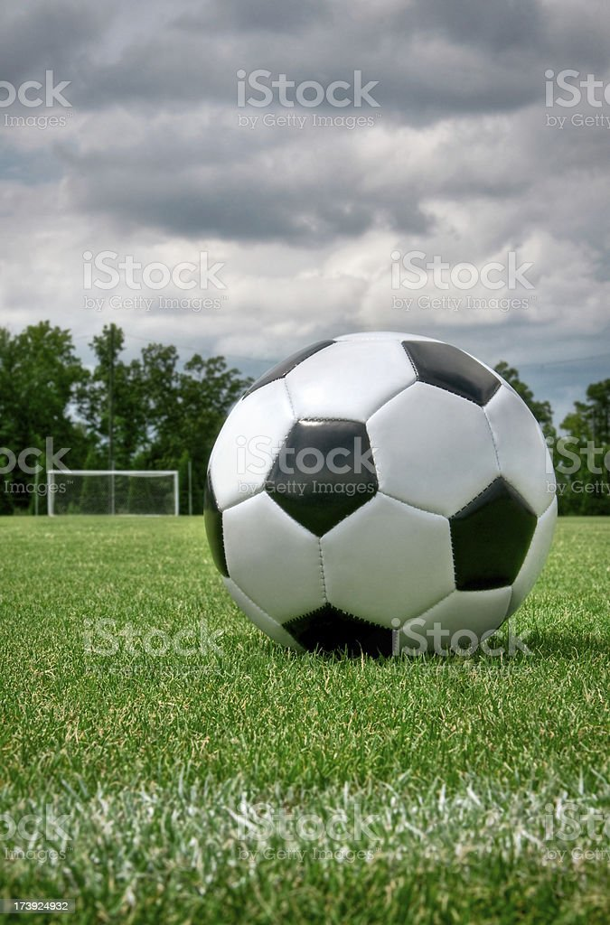 Soccer Ball and Goal royalty-free stock photo