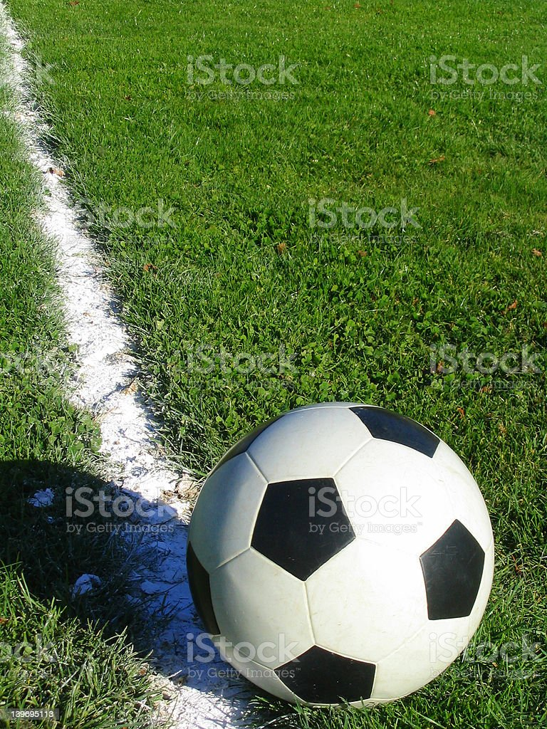 soccer ball and line royalty-free stock photo