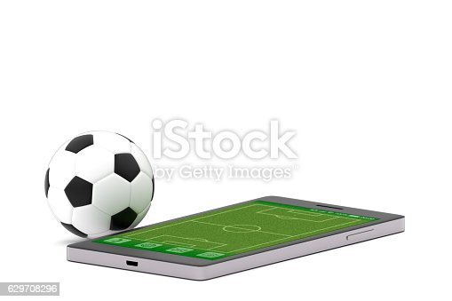 istock Soccer ball and smartphone 629708296