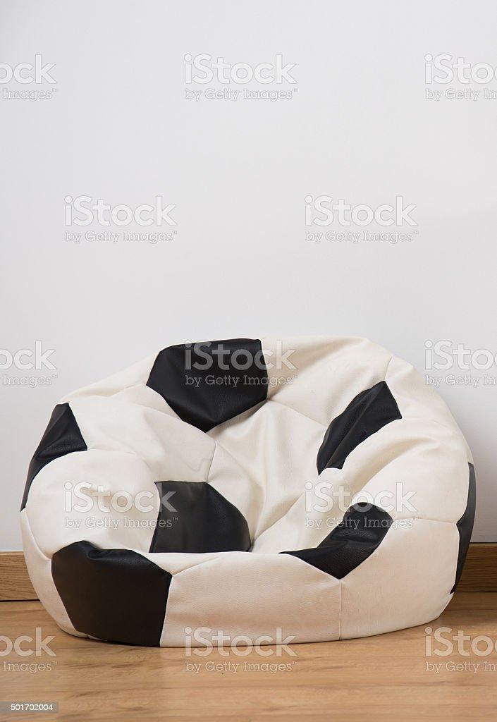 Soccer Ball Sitzsack Stuhl Stockfoto und mehr Bilder von