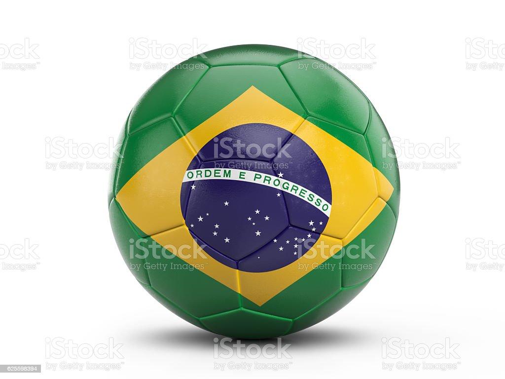 Soccer ball Brazil flag - foto de acervo