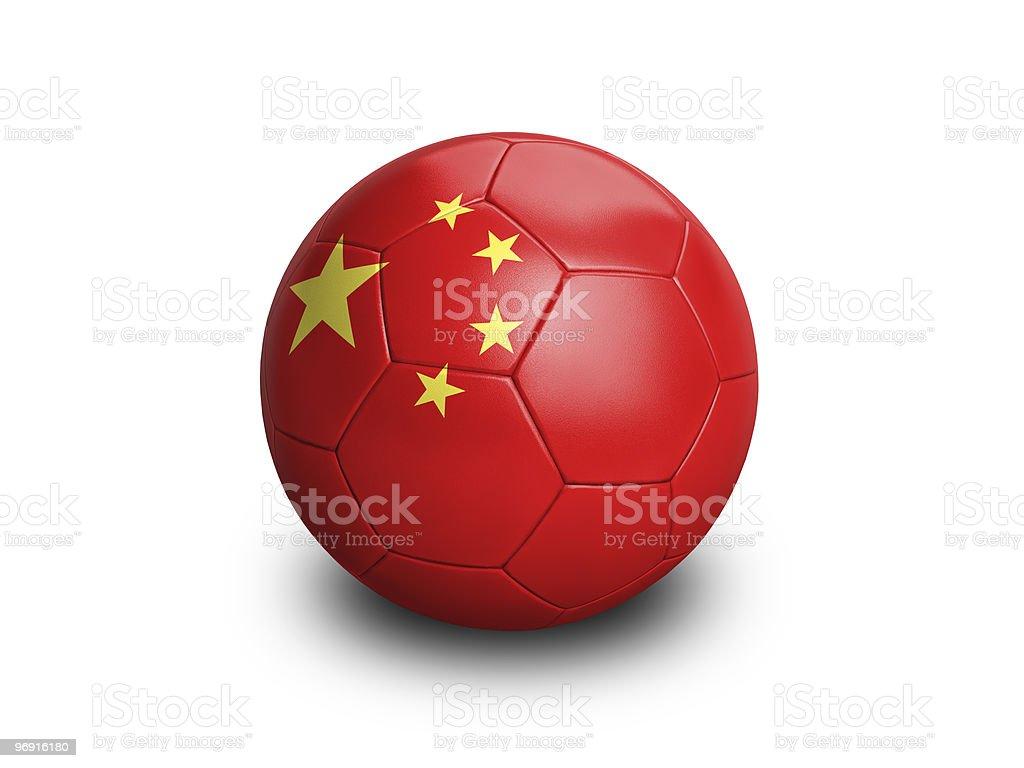 Soccer Ball China royalty-free stock photo
