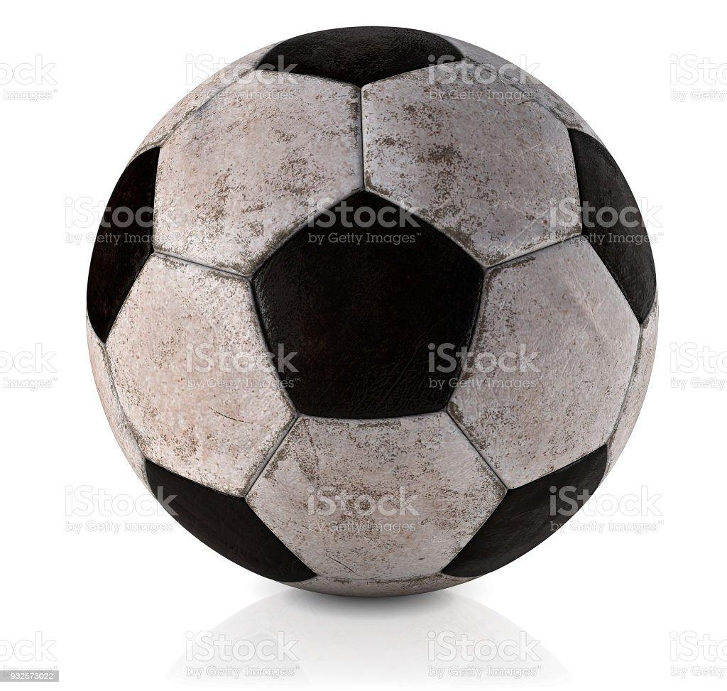 Fussball Klassisch Schmutzig Und Gebraucht Classicfussballball