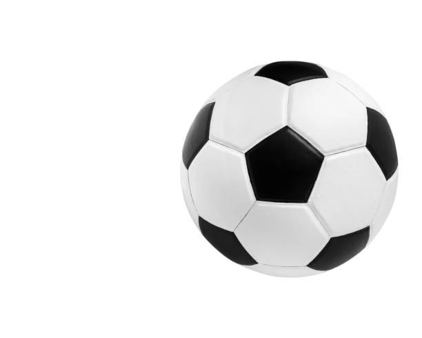 Soccer Ball Closeup Bild. Fußball auf isoliert. – Foto