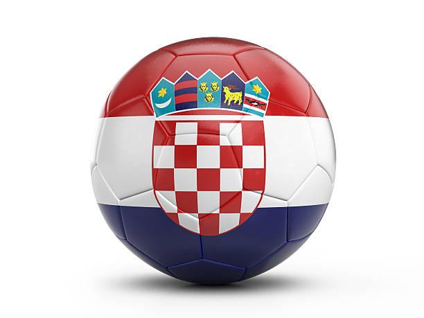 Soccer ball Croatia flag - foto de acervo