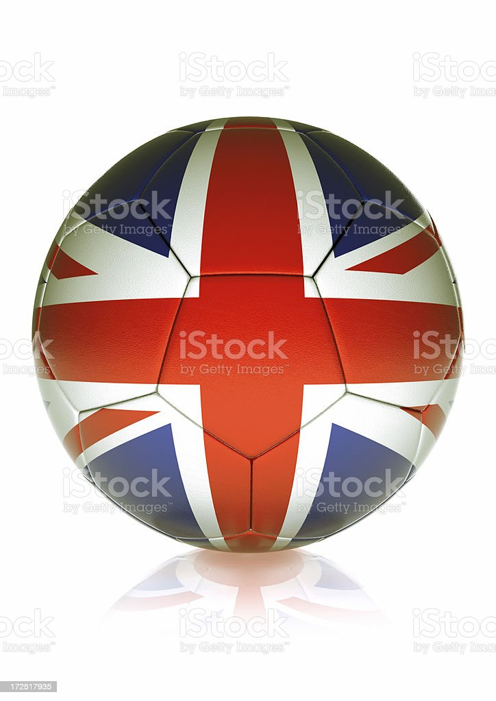 Soccer Ball ENGLAND royalty-free stock photo