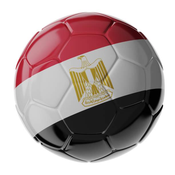 Fußball. Flagge von Ägypten – Foto
