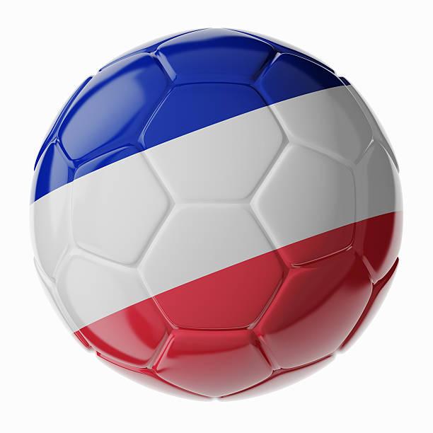 Fußball ball.  Flagge von Frankreich – Foto