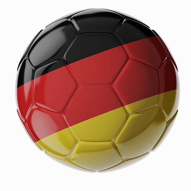 Fußball ball.  Flagge von Deutschland – Foto