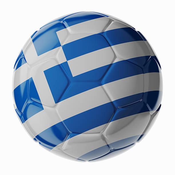 Fußball ball.  Flagge von Griechenland – Foto