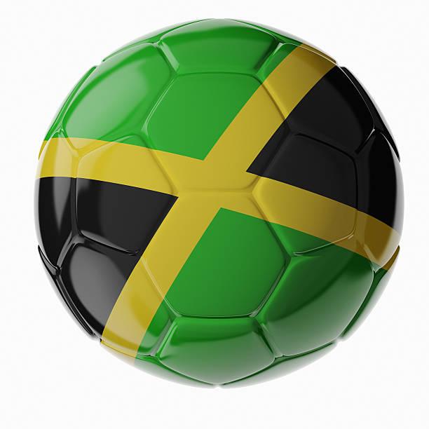 Fußball ball. Flagge von Jamaica – Foto