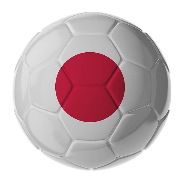 Fußball ball.  Flagge von Japan – Foto