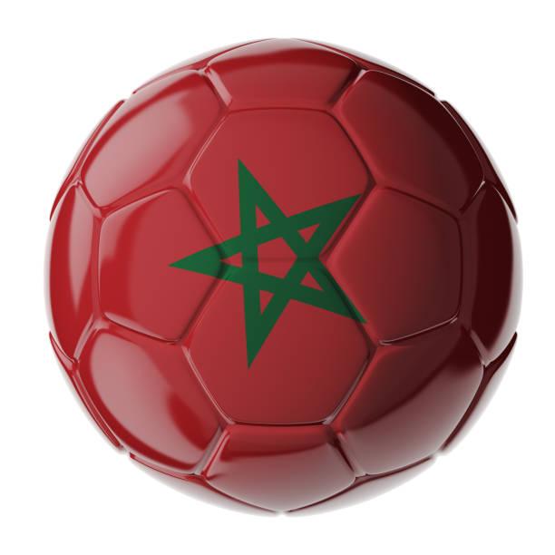 Fußball. Flagge von Marokko – Foto