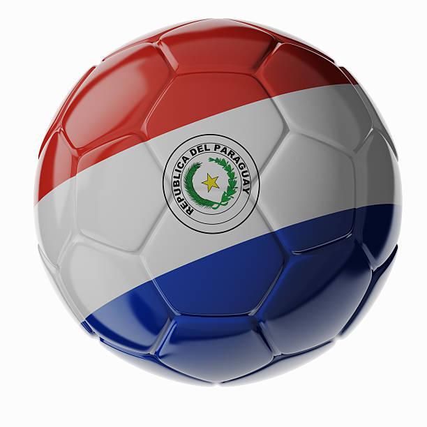 Fußball ball. Flagge von Paraguay – Foto