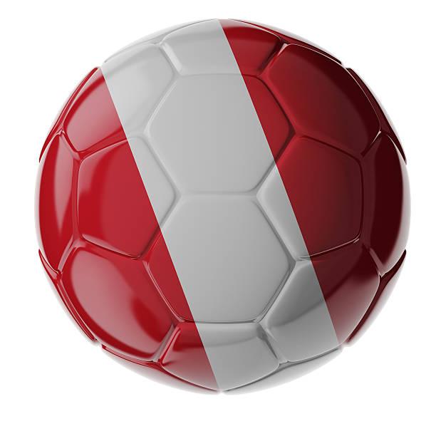 Fußball ball. Flagge von Peru – Foto
