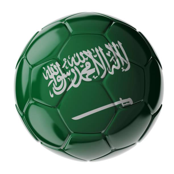 Fußball. Flagge von Saudi-Arabien – Foto