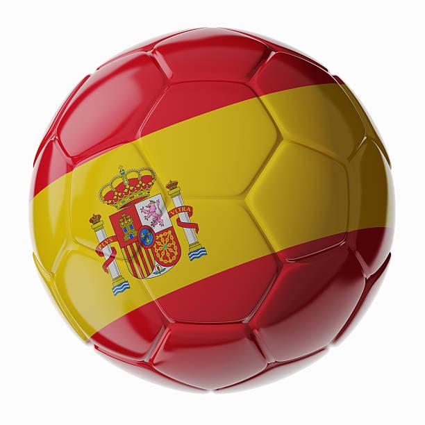 Fußball ball.  Flagge von Spanien – Foto