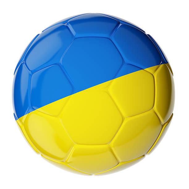 Fußball ball. Flagge der Ukraine – Foto