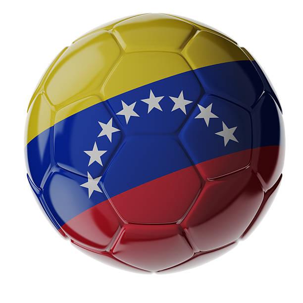 Fußball ball. Flagge von Venezuela – Foto
