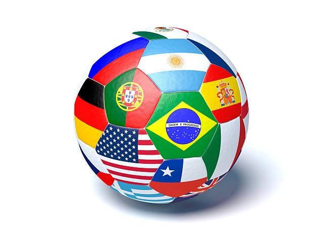 Cтоковое фото Футбольный мяч флаги