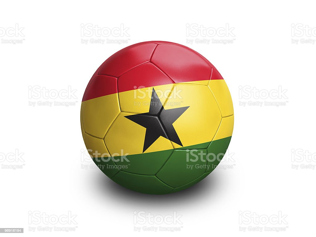 Soccer Ball Ghana royalty-free stock photo