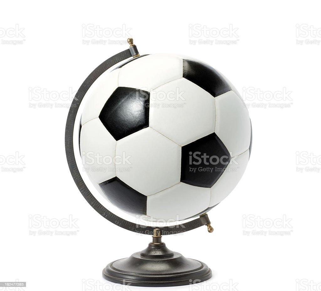 Pelota de fútbol mundo - foto de stock