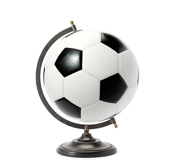 soccer ball globe stock photo