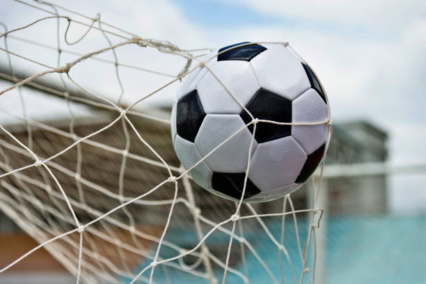 The Soccer Ball Hit Into The Net: Royalty Free Kicking Field Goal Pictures, Images And Stock