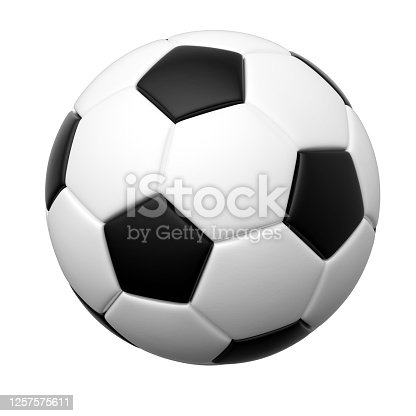 soccer, ball, isolated on white, 3d rendering