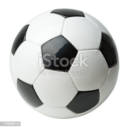 Soccer ball isolated on white.