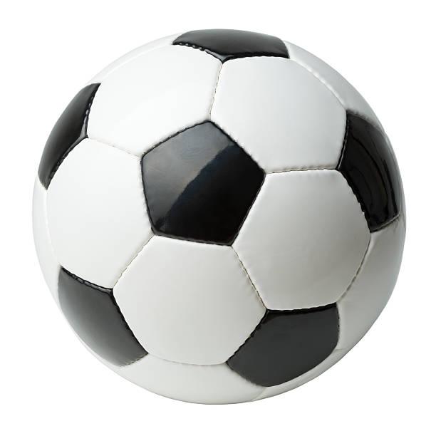 Bola de futebol Isolado no branco - foto de acervo