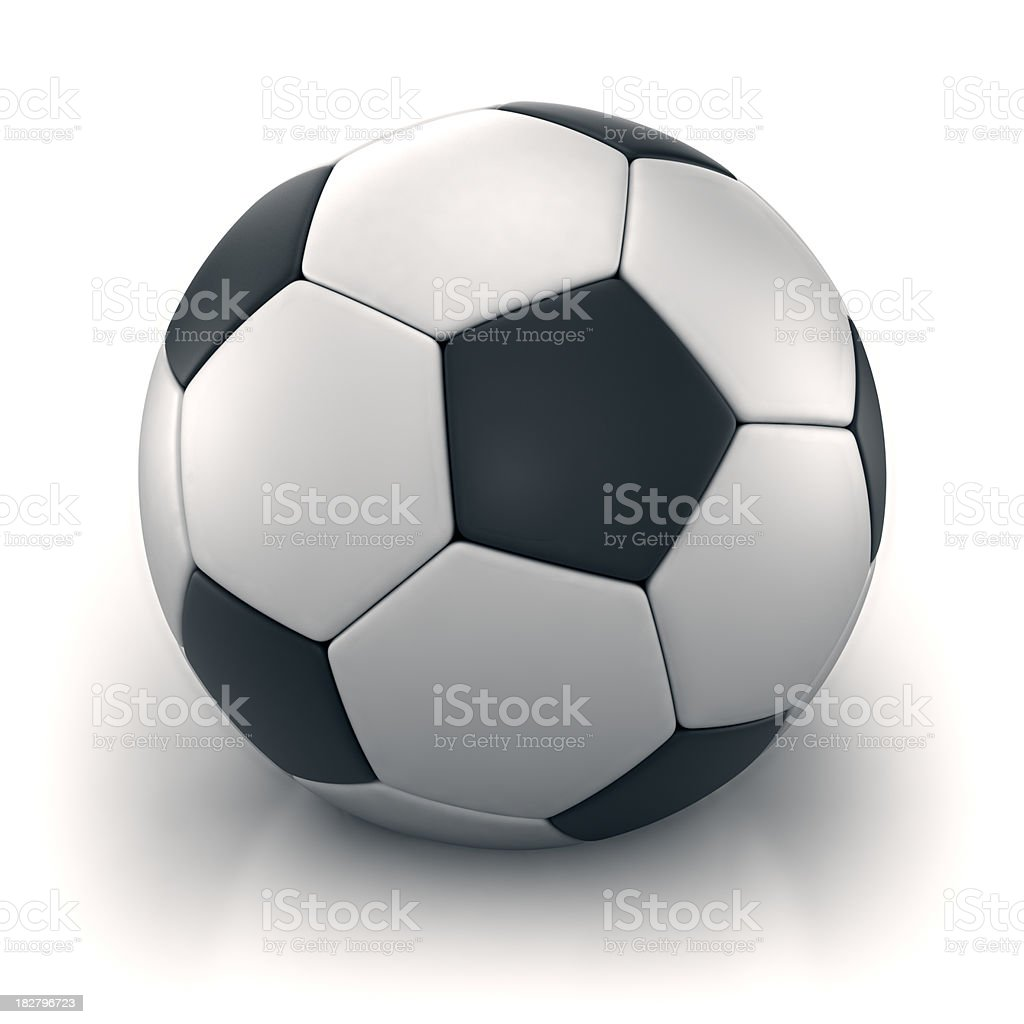 Soccer ball isolated on white with clipping path royalty-free stock photo