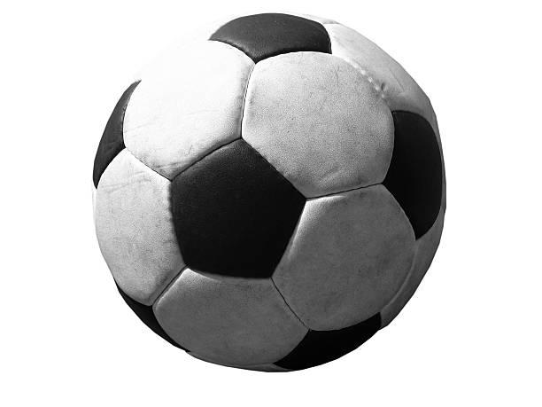 fußball ball, isoliert - herpens stock-fotos und bilder