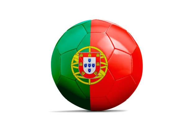 fotboll isolerade med team flagga, ryssland 2018 - football portugal flag bildbanksfoton och bilder