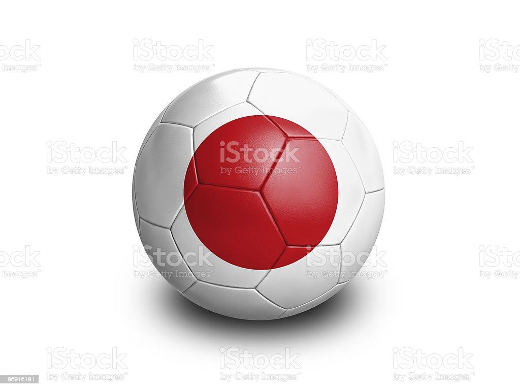 Soccer Ball Japan royalty-free stock photo