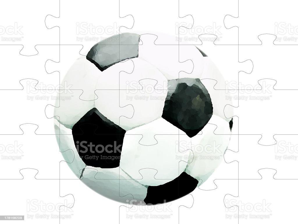 soccer ball jigsaw royalty-free stock photo