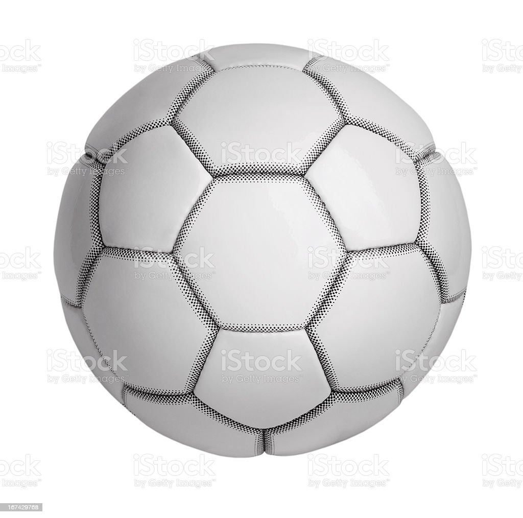 Soccer ball made of artificial leather royalty-free stock photo