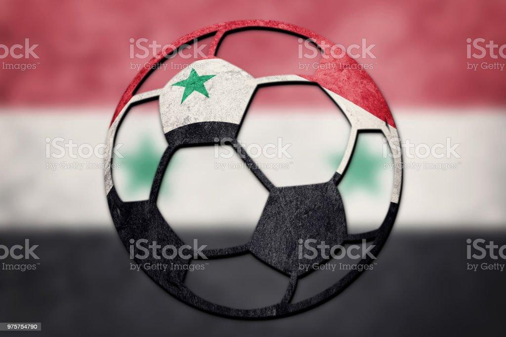 Soccer Ball Syrien Nationalflagge Syrische Fussballball
