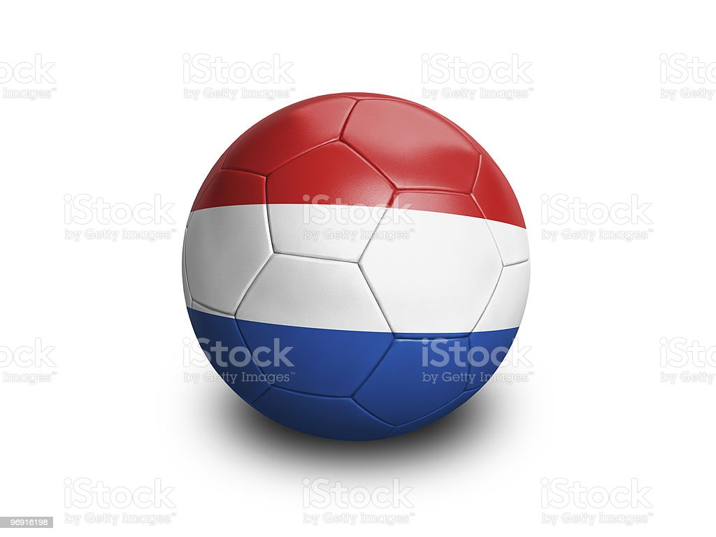 Soccer Ball Netherlands royalty-free stock photo