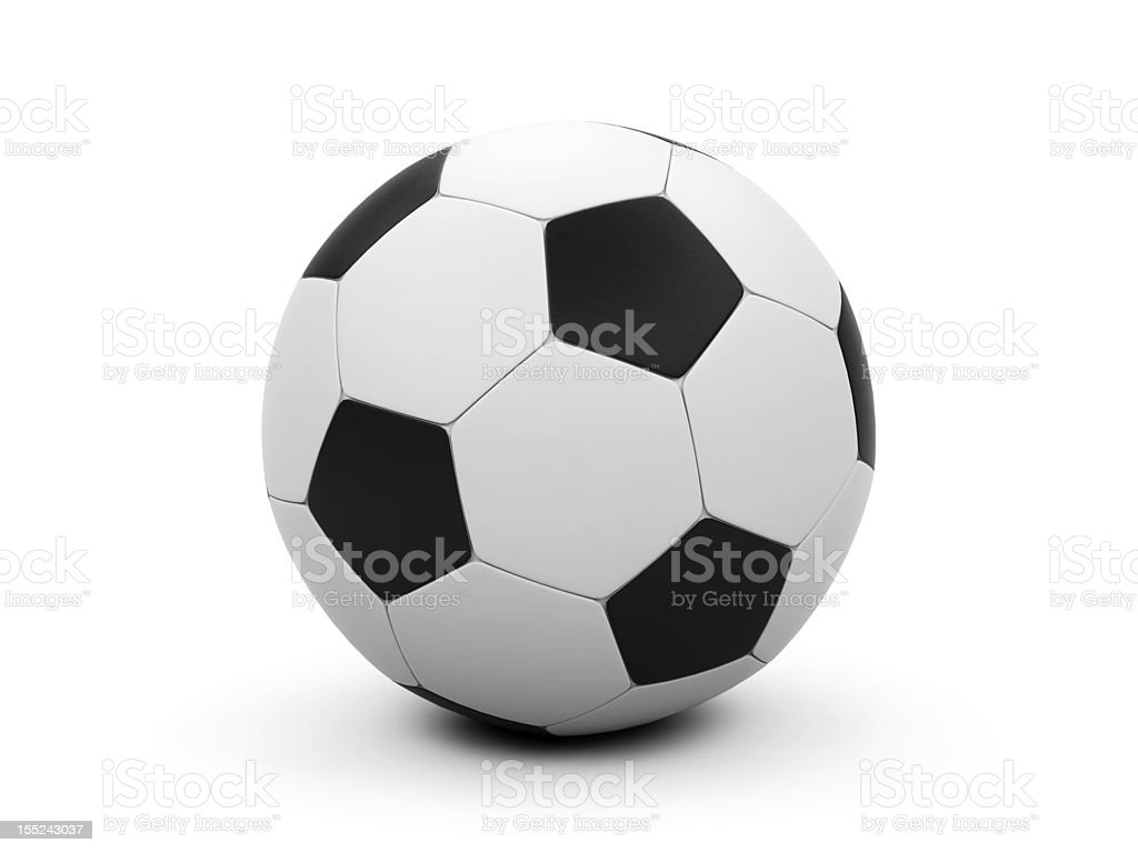 Soccer ball on a white background. royalty-free stock photo