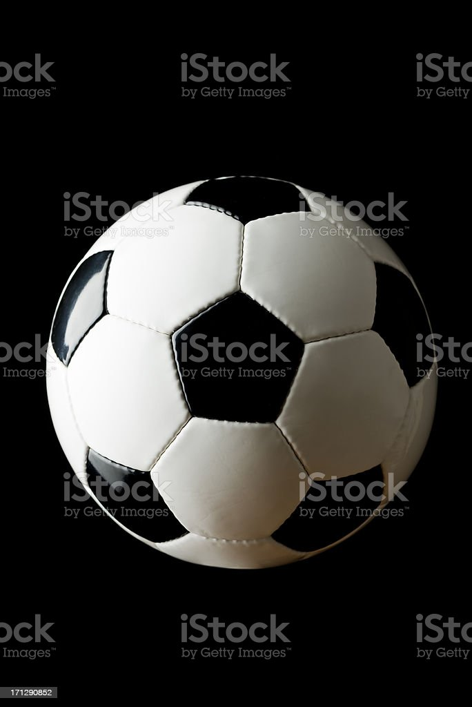 Soccer Ball on Black Background royalty-free stock photo