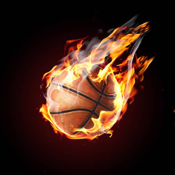 Soccer ball on fire – Foto